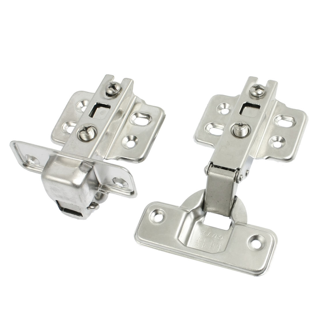 Stainless Steel Buffering Full Overlay Cabinet Door Hinge 2Pcs