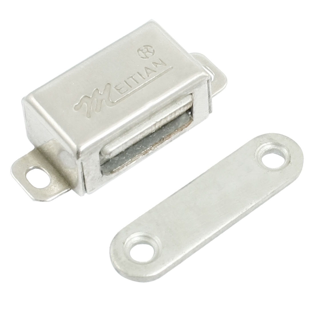 "1.2"" Length Silver Tone Single Magnetic Catch for Cupboard"