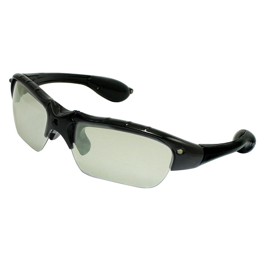 Lady Man Black Plastic Half-Frame LED Flashing Sunglasses