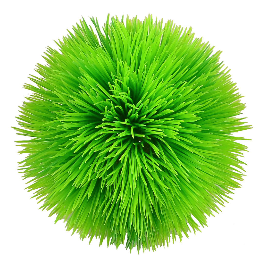 "Aquarium Fish Tank Green Leaves 4.1"" High Simulated Plastic Plant Grass"