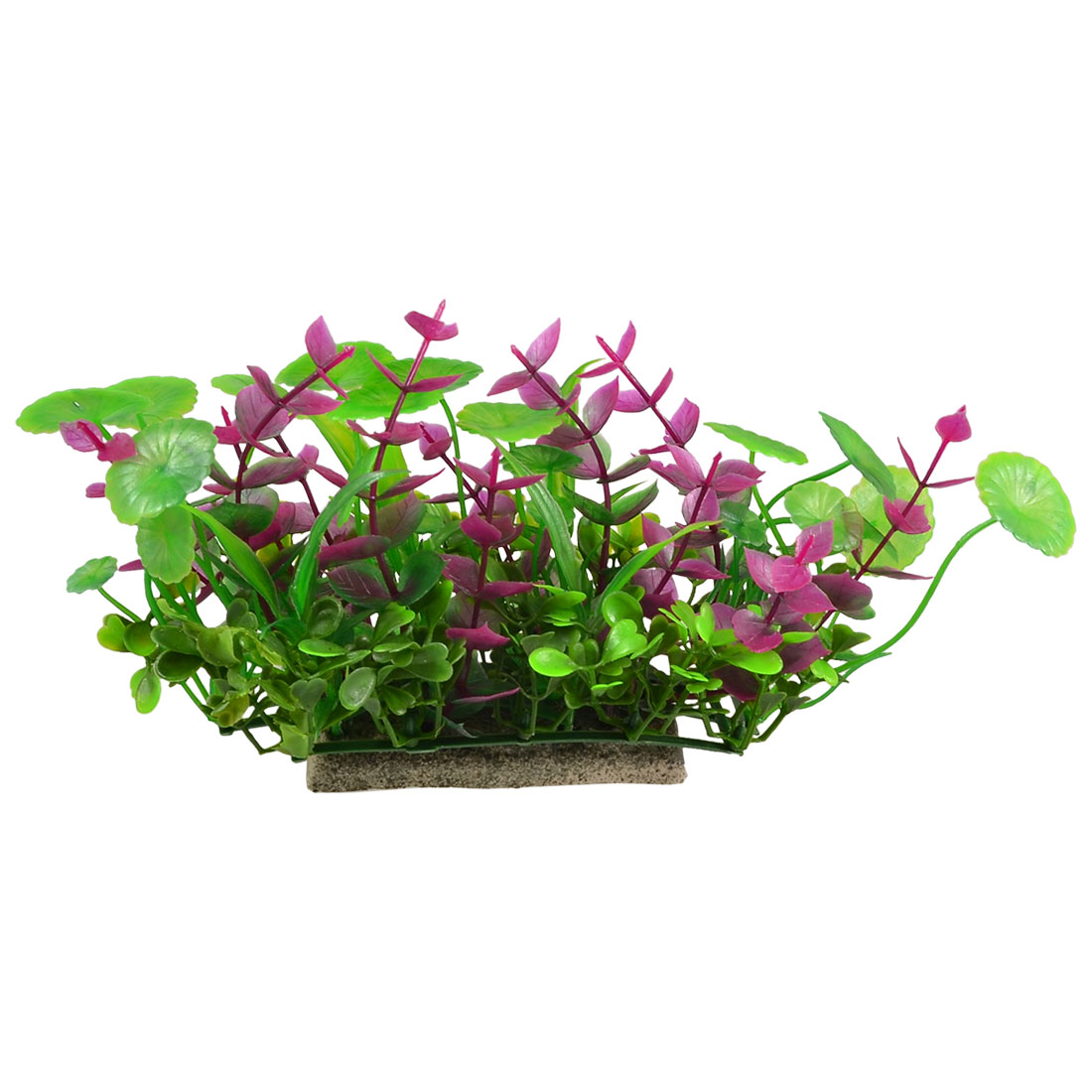 "Manmade Plastic Green Fuchsia Leaves Plant for Aquarium 3.9"" Height"