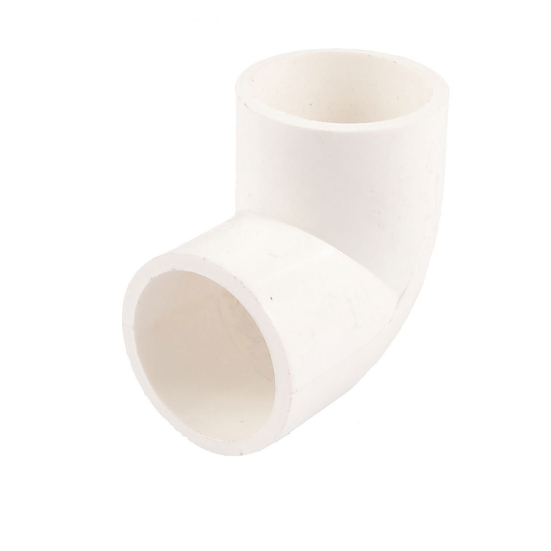 PVC-U 25mm Drainage Pipe Adapter Connector 90 Degree Elbow White 5 Pcs