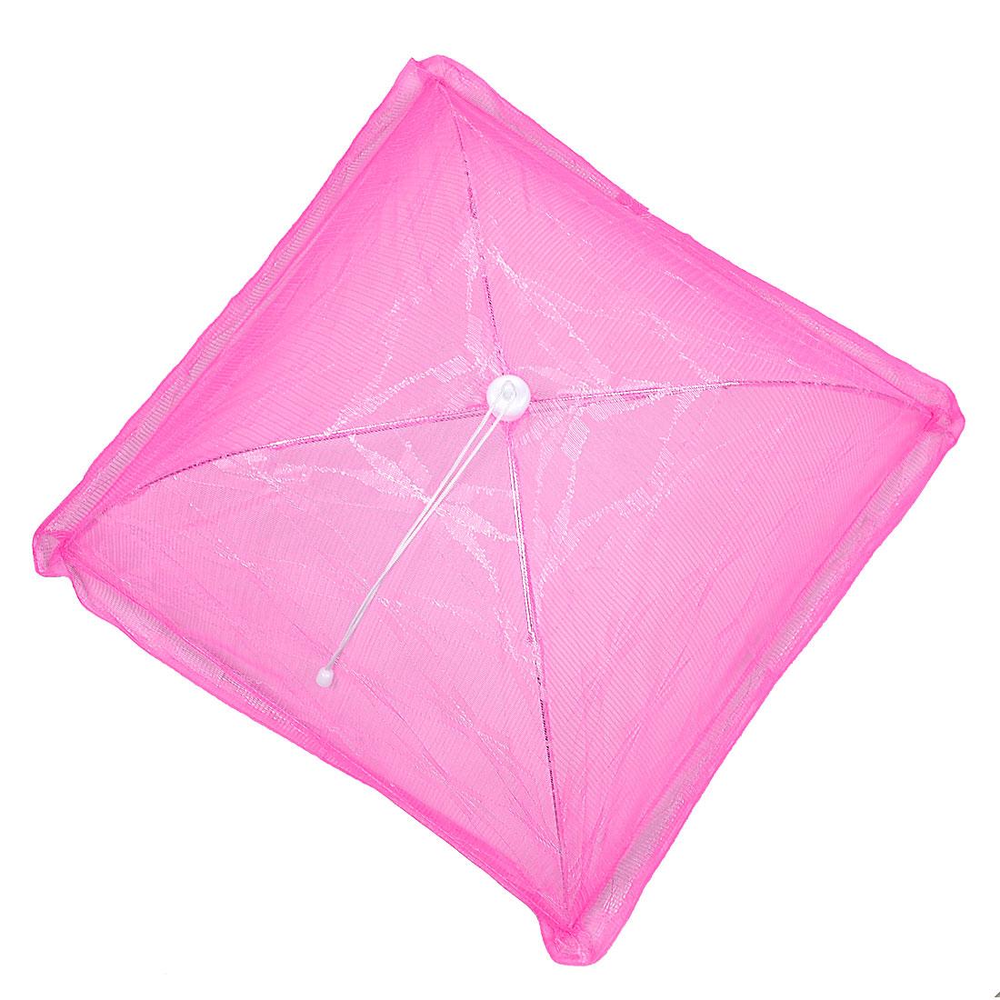 57cm x 57cm Pink Nylon Sheer Folding Foldable Picnic Food Cover