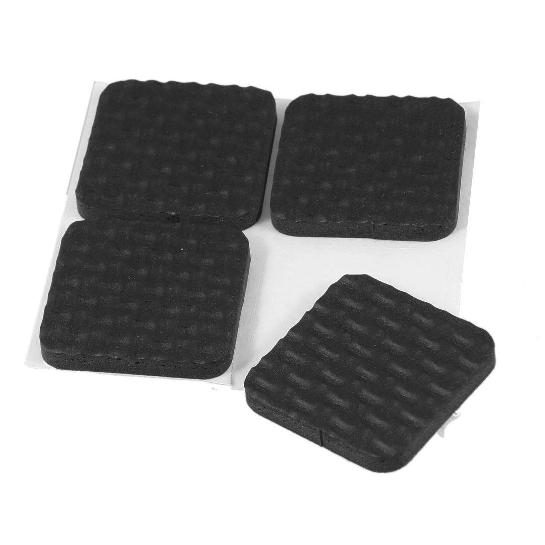 4 Pcs Black Foam Self Adhesive Table Chair Foot Nonslip Square Pad