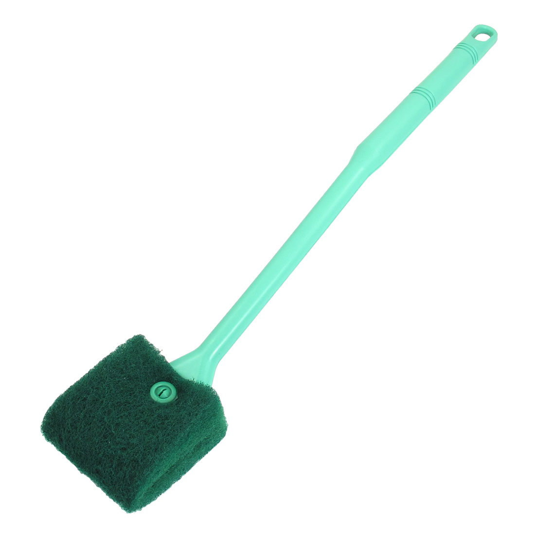 "Green Plastic Handle Sponge Cleaning Brush Cleaners for Fish Tank 16"" Long"