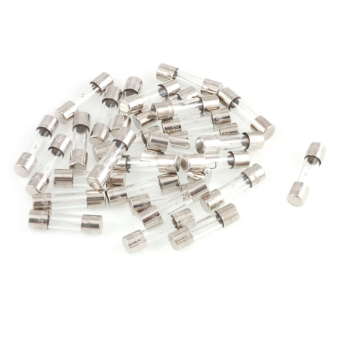 30 Pcs Time Delay 250V 2A 3.15A 5A Glass Tube Fuses Cartridge 5x20mm