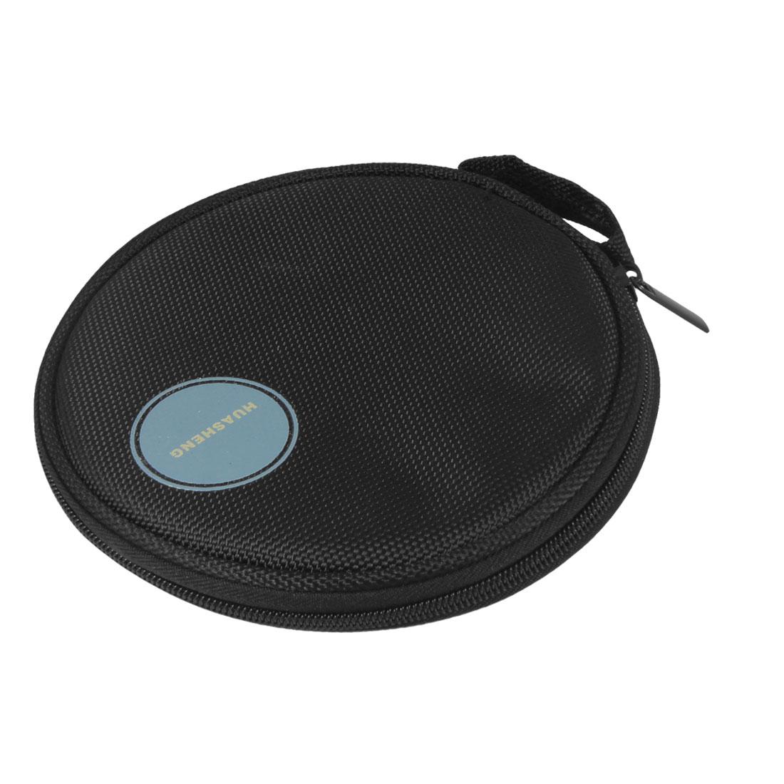 Black Nylon 10 Sheets 20 Pieces Capacity Auto Car CD DVD Round Case Bag Holder