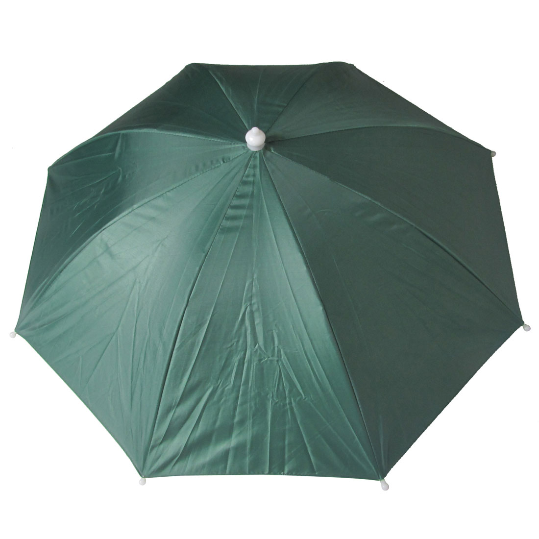 Silver Gray Lining Green Polyester Cover Fishing Sun Shading Umbrella Hat