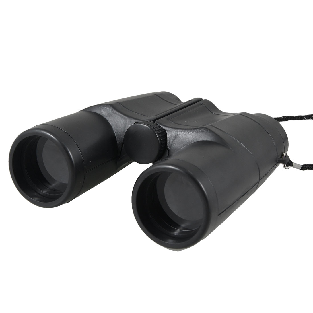 Children Traveling Foldable Black Plastic 4X Telescope Binoculars w Nylon Strap