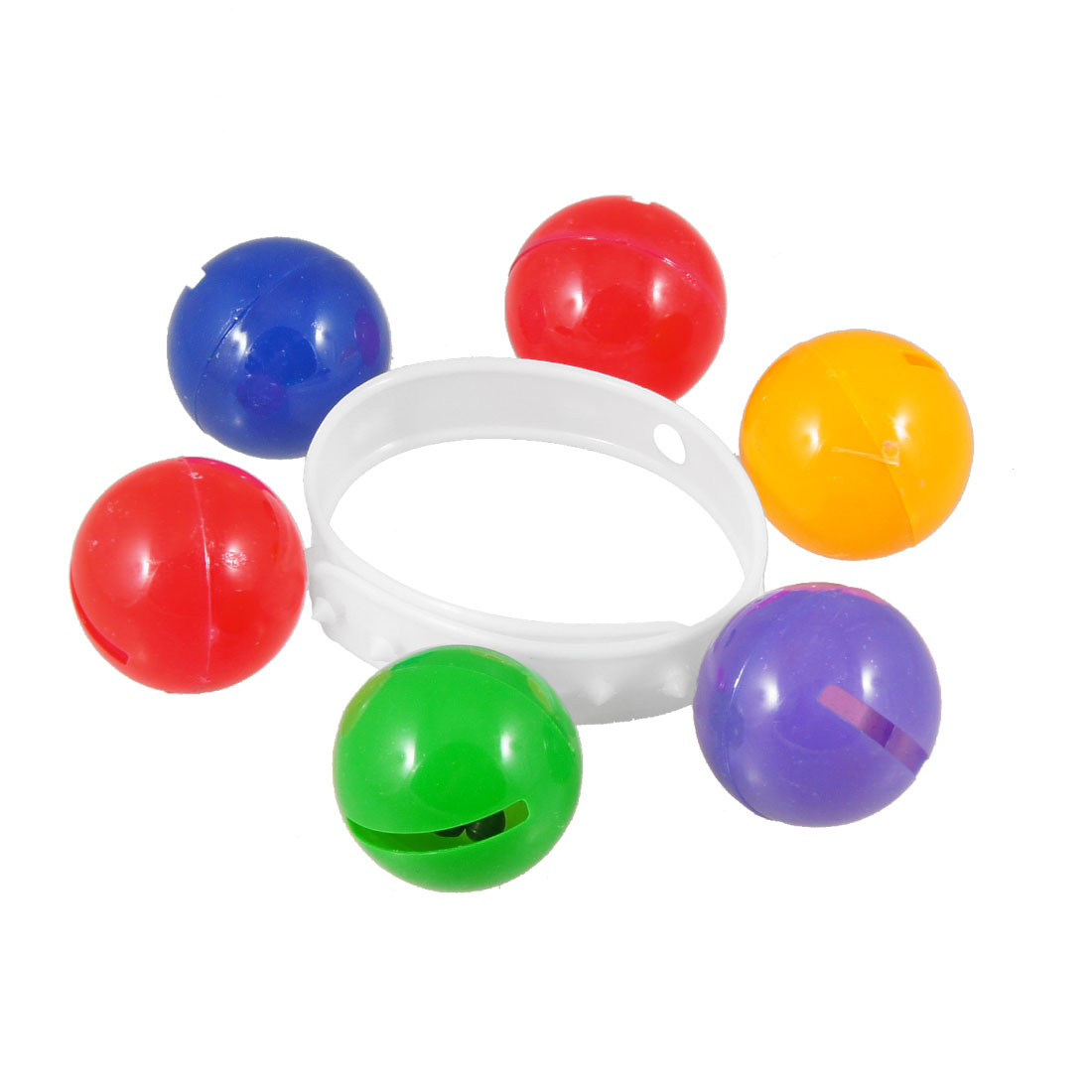 Kids Playing Dancing Colorful Ball White Flexible Wristlet Shake Bell Toy