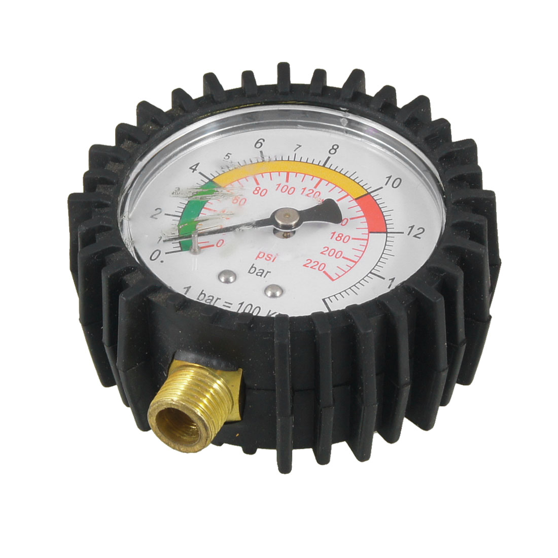 Black Auto Car Motorcycle Tire Air Pressure Gauge Meter 0-16 Bar 0-220 Psi