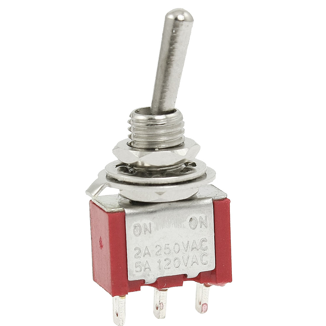 2A 250VAC 5A 120V AC ON/ON SPDT Miniature Toggle Switch