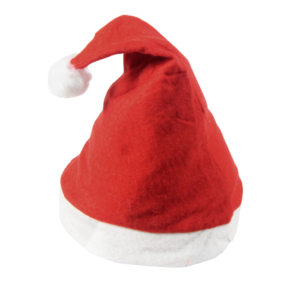 Christmas Xmas White Hem Red Fleece Santa Claus Hat for Adult