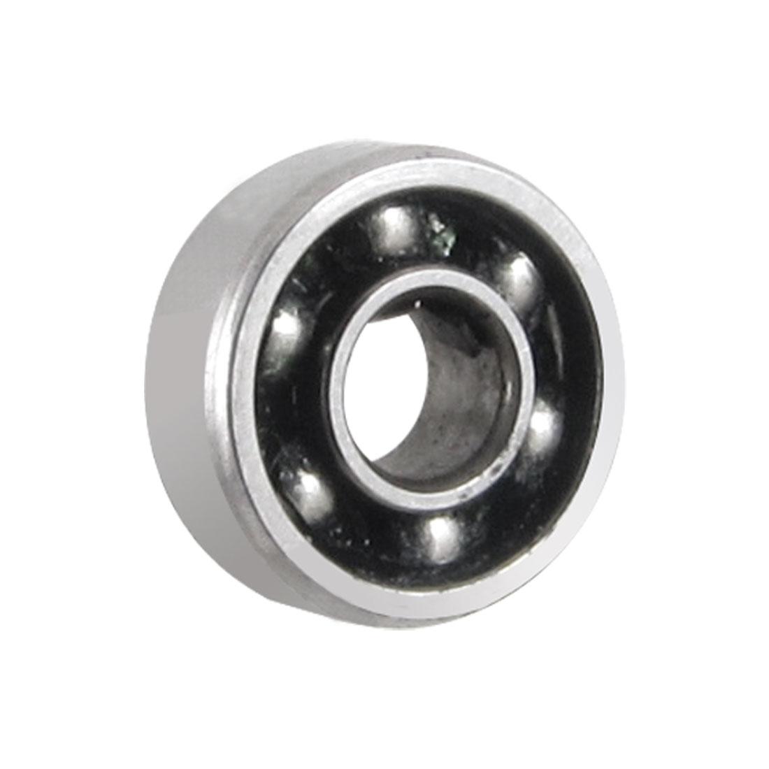 Stainless Steel 3mmx8mmx3mm Open Single Row Deep Groove Ball Bearing