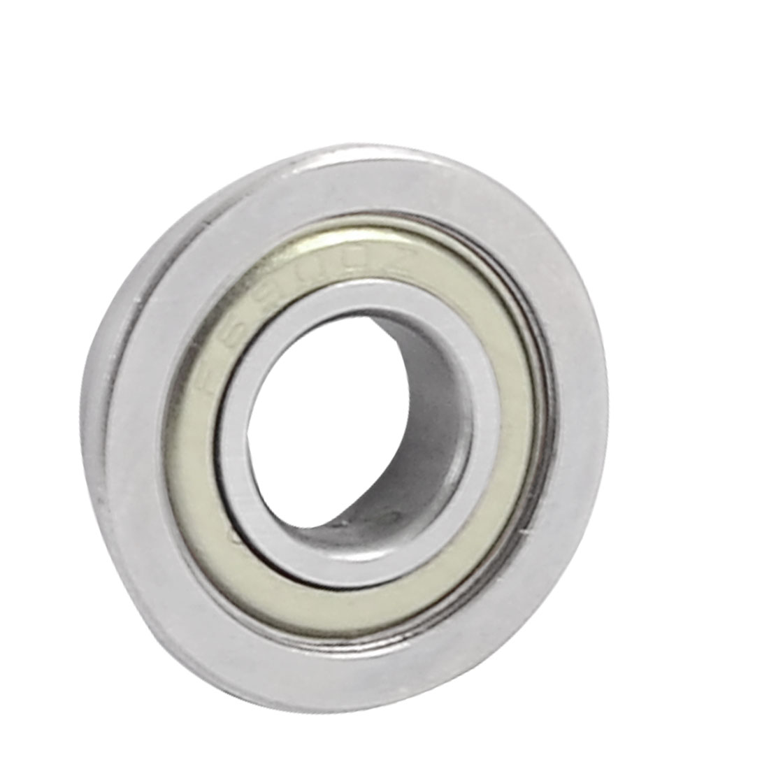 22mm x 10mm x 6mm Silver Tone Metal Shields Deep Groove Flanged Ball Bearing