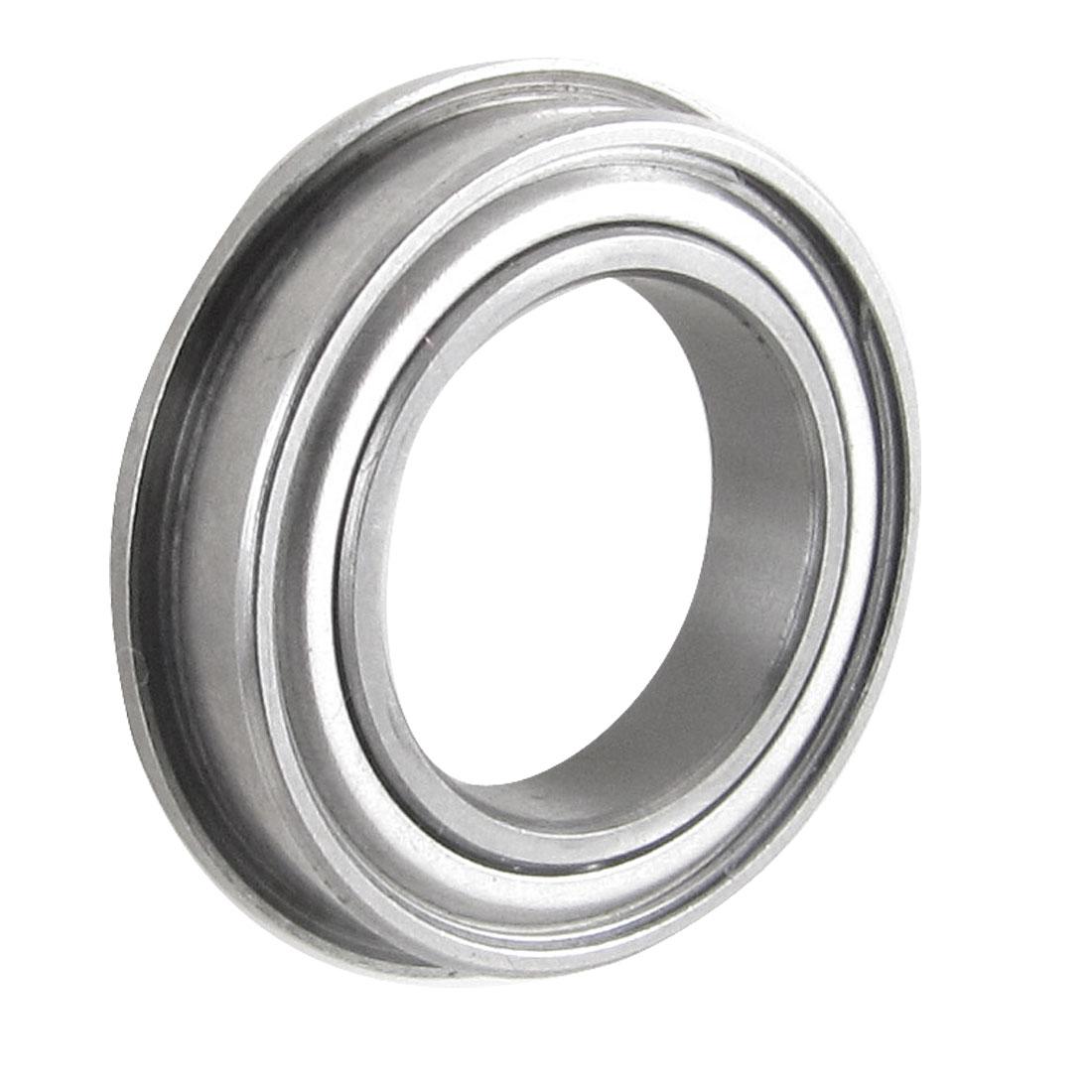 Flanged 15mm x 24mm x 5mm Metal Shields Deep Groove Ball Bearing F6802