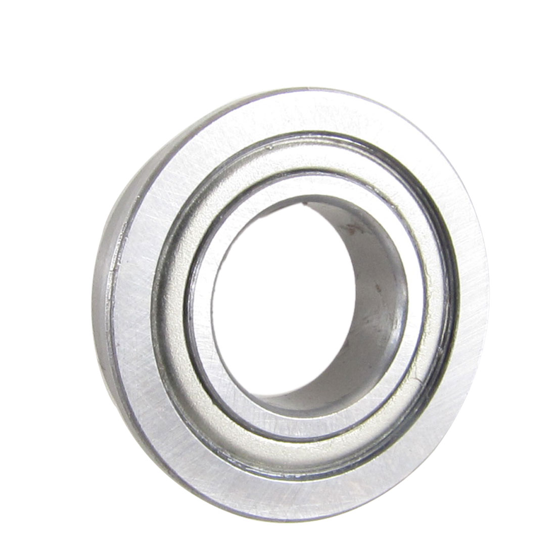 26mm x 15mm x 5mm Silver Tone Metal Shields Deep Groove Flanged Ball Bearing