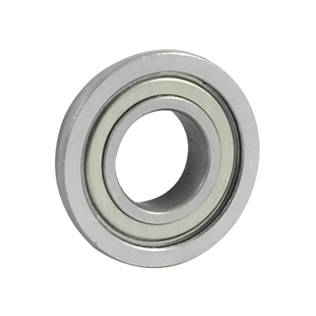 24mm x 12mm x 6mm Silver Tone Radial Shielded Deep Groove Flanged Ball Bearing