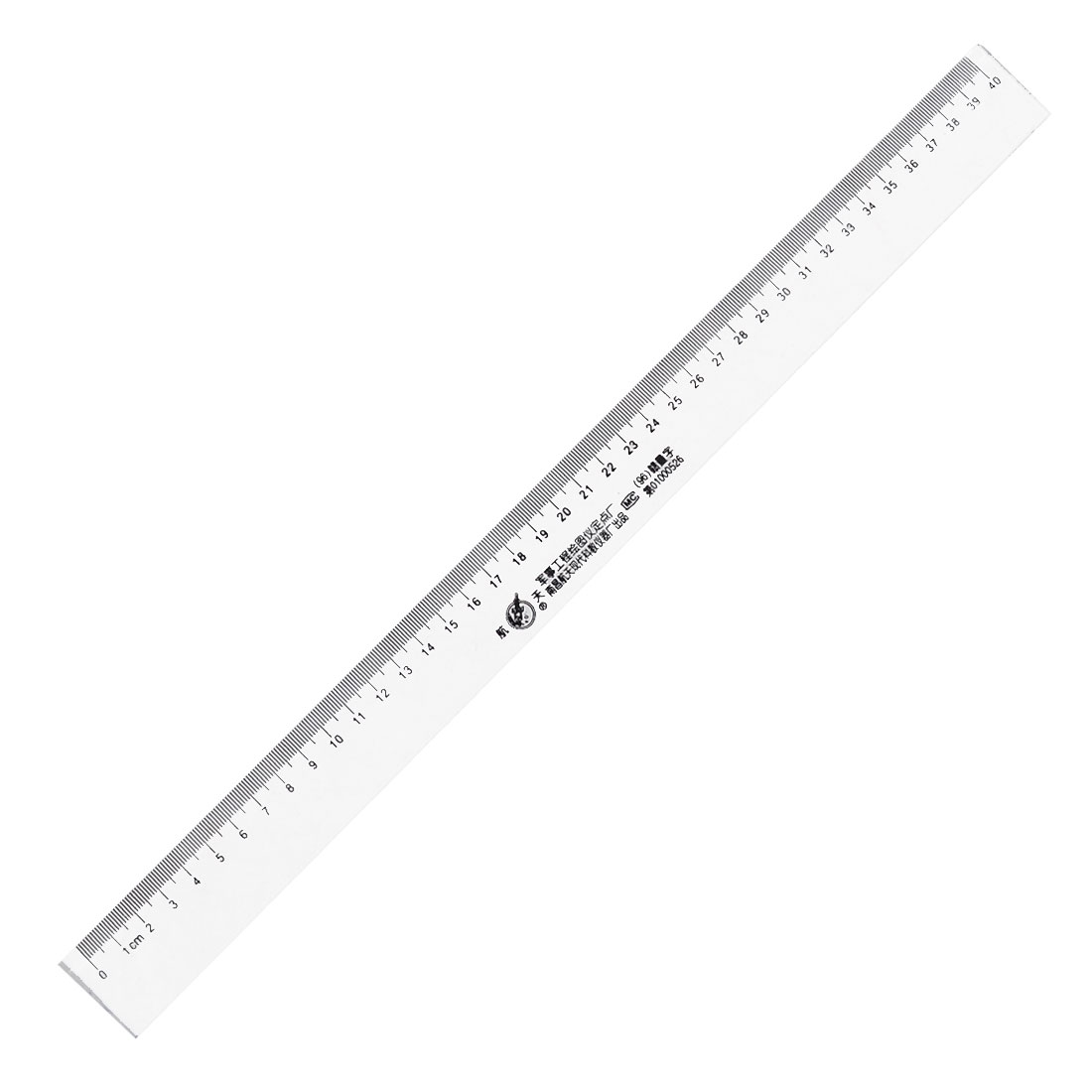 40cm Measurement Black Clear Hard Plastic Ruler for Students