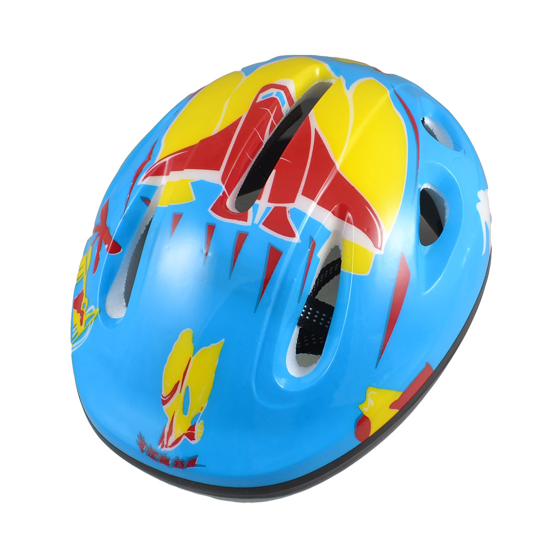 Adults Blue Yellow Skateboard Bicycle Bike Cycling Skating Foam Helmet