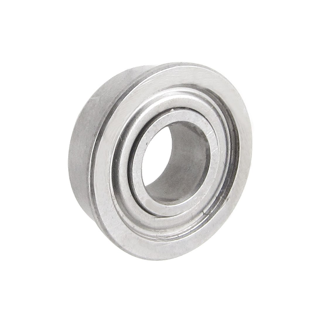 11mm x 5mm x 4mm Radial Shielded Deep Groove Flanged Ball Bearing Silver Tone