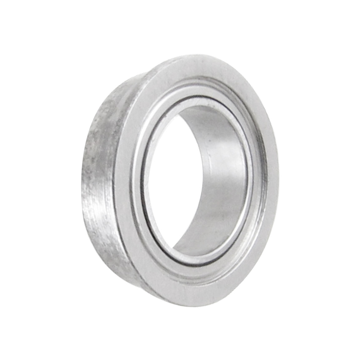 Flanged 8mm x 12mm x 3.5mm Metal Sealed Deep Groove Ball Bearing