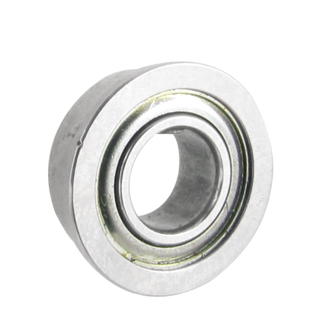 10mm x 5mm x 4mm Metal Shields Deep Groove Flanged Ball Bearing Silver Tone
