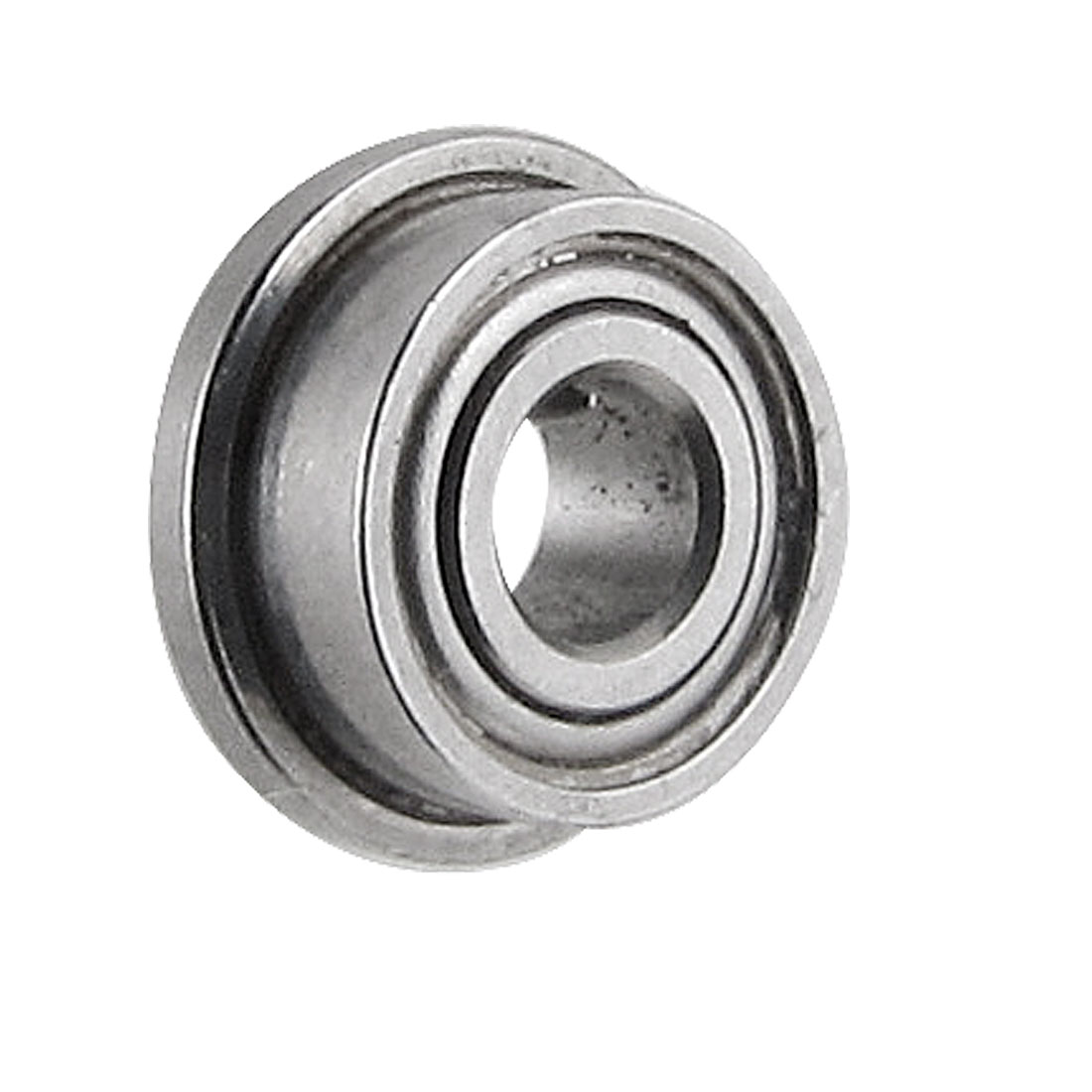 6mm x 2.5mm x 2.5mm Metal Shields Deep Groove Flanged Ball Bearing Silver Tone
