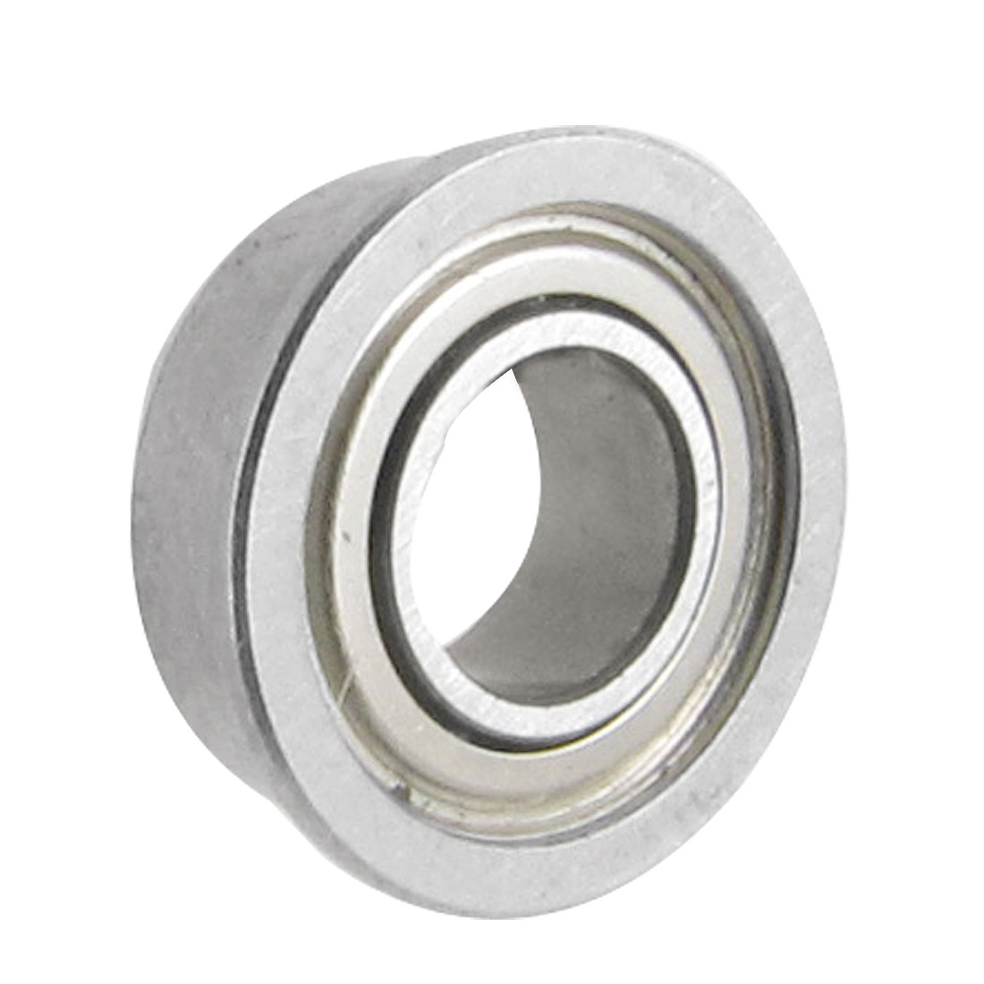 8mm x 4mm x 3mm Silver Tone Sealed Premium Flanged Ball Bearing