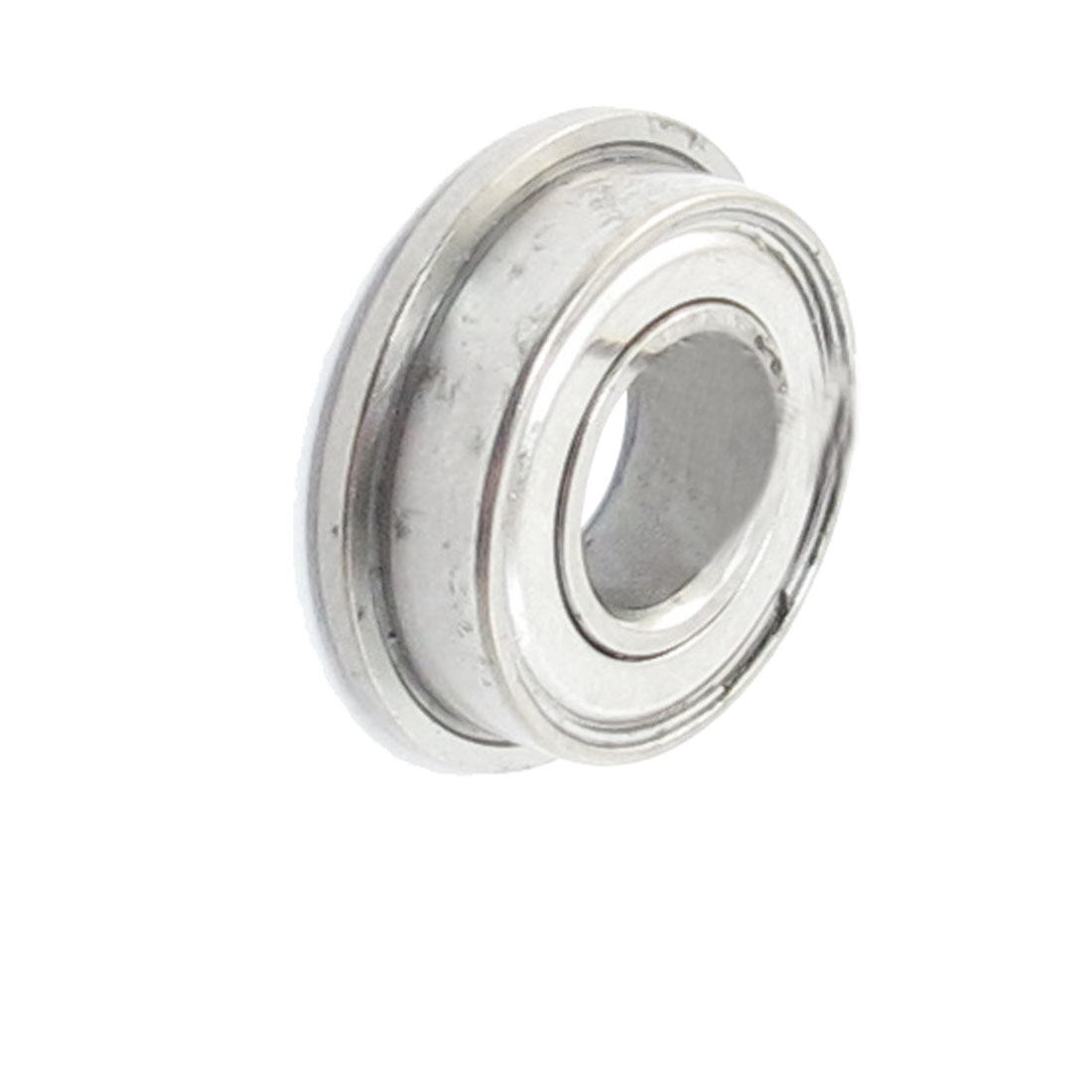 13mm x 7mm x 4mm Silver Tone Radial Shielded Deep Groove Flanged Ball Bearing
