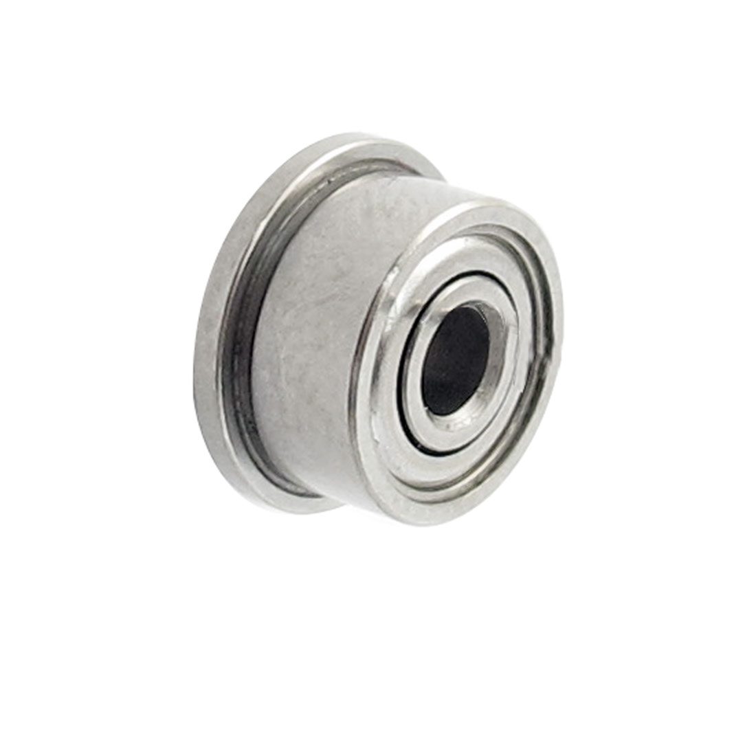 9mm x 3mm x 5mm Metal Shields Deep Groove Flanged Ball Bearing Silver Tone