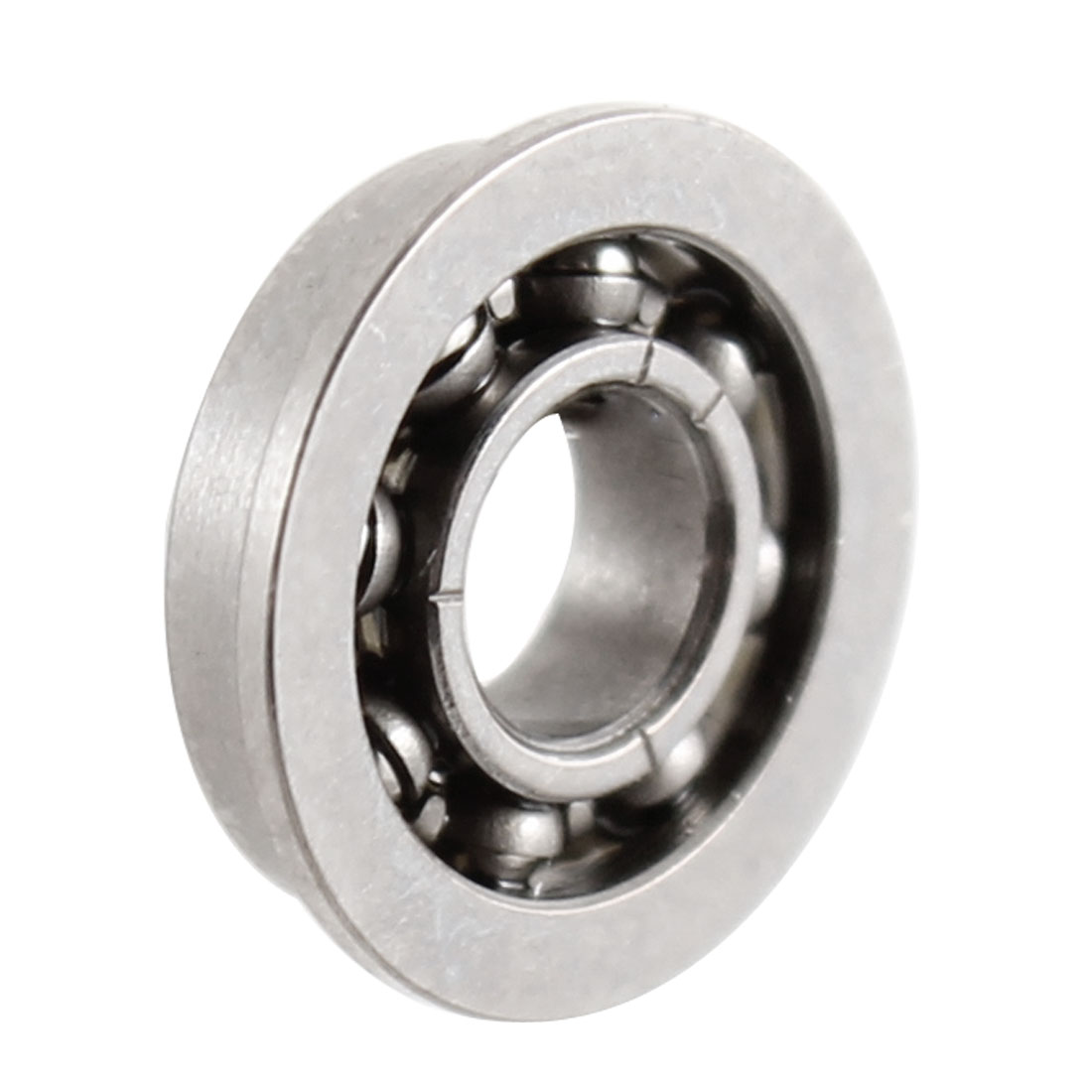 Stainless Steel Open Type Flanged Deep Groove Ball Bearing 3mmx7mmx2mm