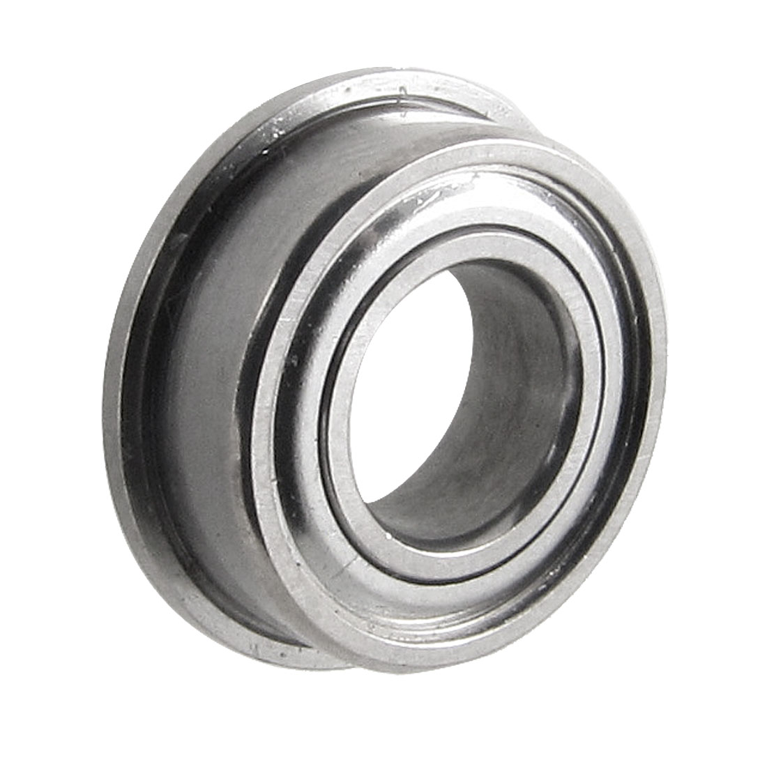 12mm x 6mm x 4mm Metal Shields Deep Groove Flanged Ball Bearing Silver Tone