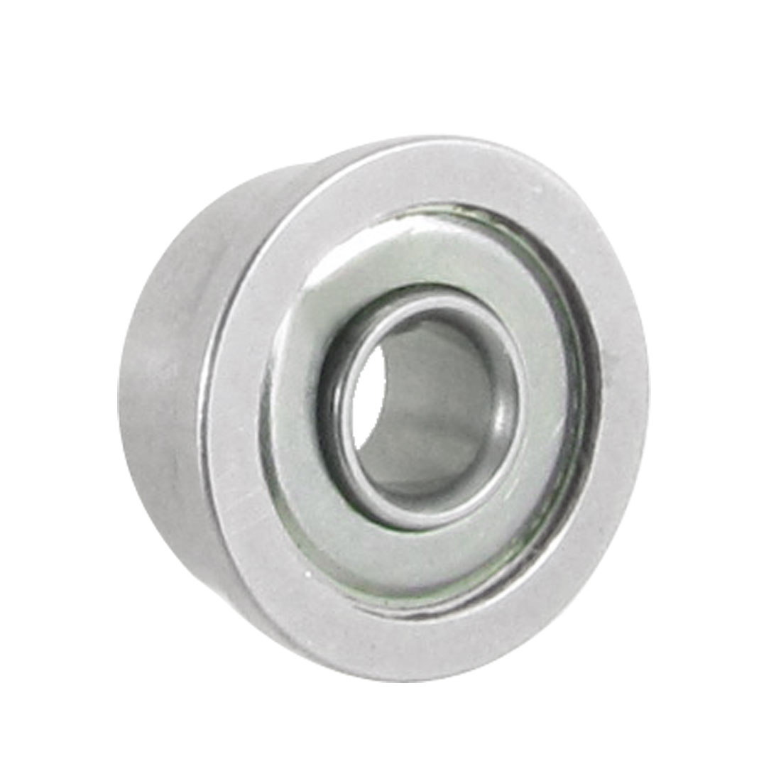 3mm x 8mm x 4mm Radial Sealed Deep Groove Flanged Ball Bearing Silver Tone