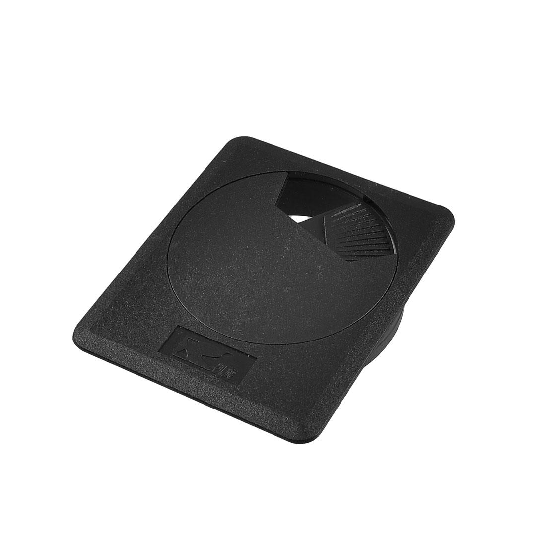 60mm Plastic Desktop Table Cable Cover Grommet Organizer Black