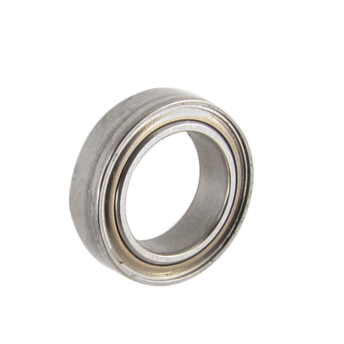 11mm x 7mm x 3mm Shielded Deep Groove Radial Ball Bearing Silver Tone