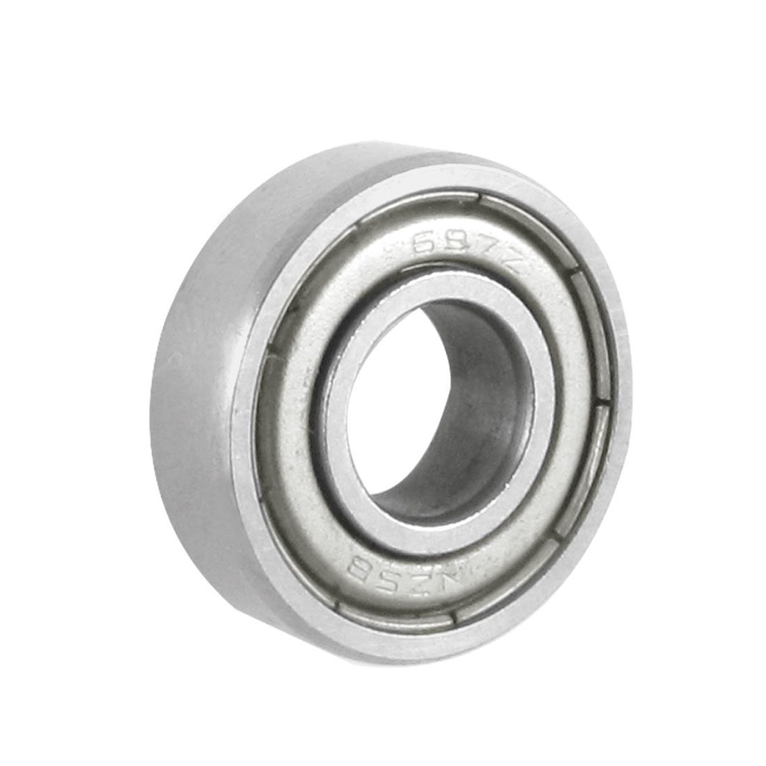7mm x 17mm x 5mm Dual Metal Shields Deep Groove Mini Ball Bearing 697Z