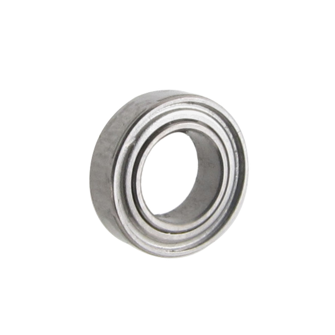 7mm x 4mm x 2mm Silver Tone Metal Open Type Deep Groove Ball Bearing