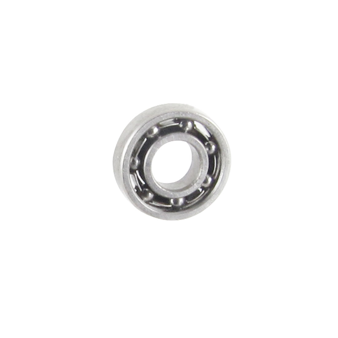 Silver Tone Metal Deep Groove Radial Ball Bearing 3mm x 7mm x 2mm