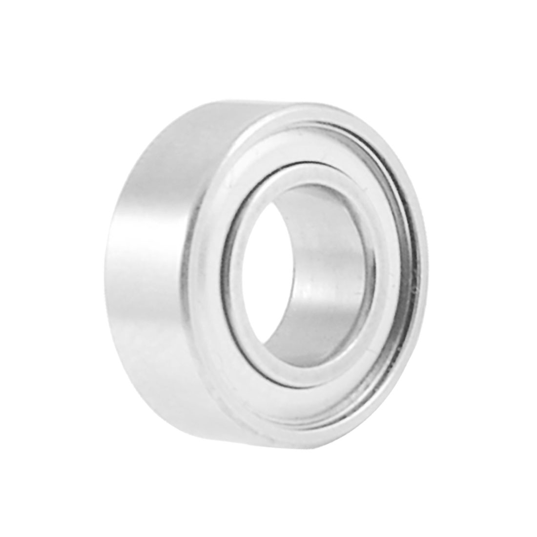 8mm x 4mm x 3mm Metal Double Sealed Ball Bearing Silver Tone