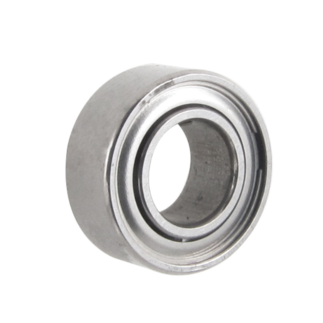 5mm x 10mm x 4mm Silver Tone Metal Sealed Deep Groove Radial Ball Bearing