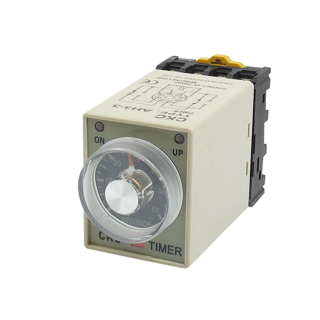 AH3-3 AC 220V 0-60s 60 Second 8P Terminals Delay Timer Time Relay w Base