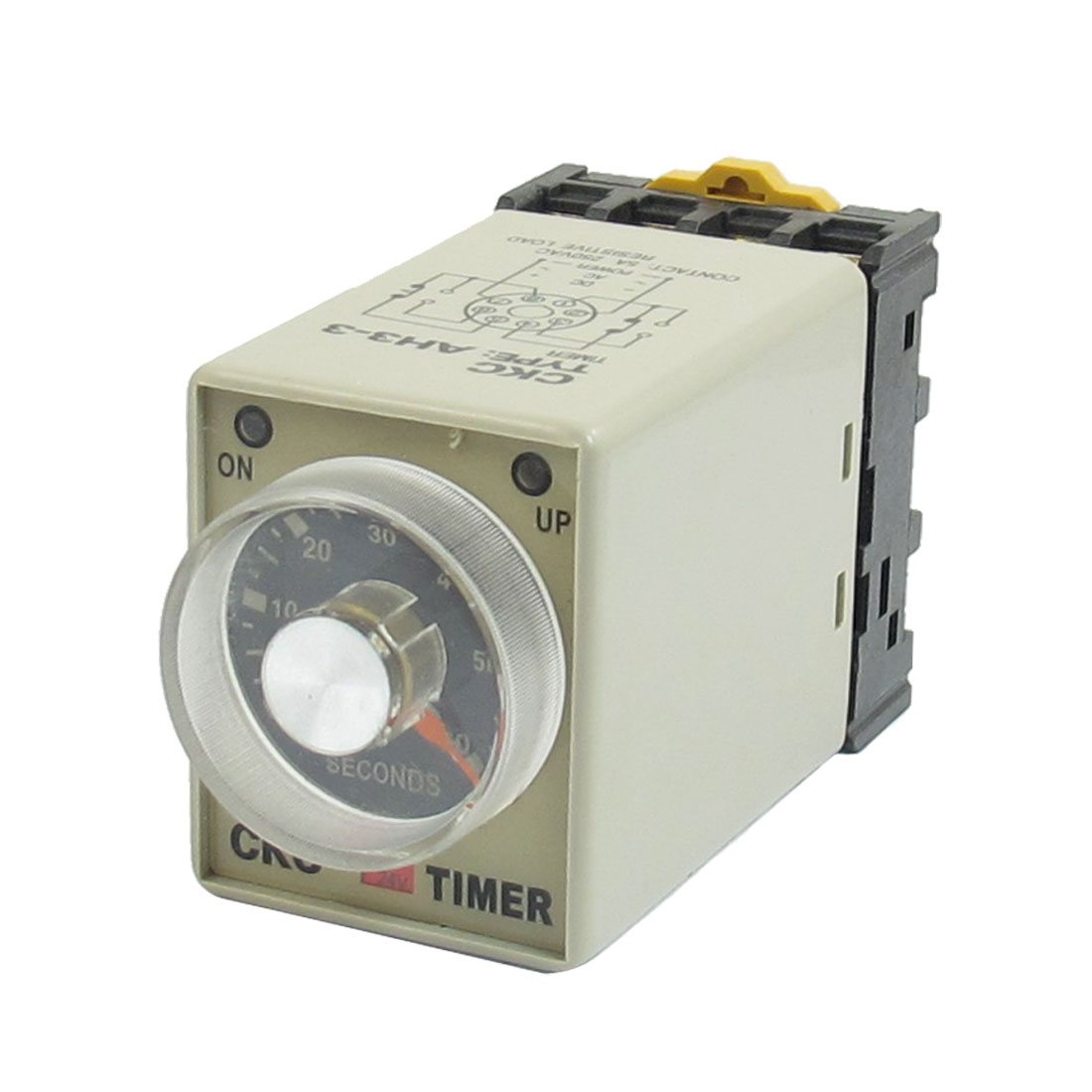 24VDC 8 Pin 0-60s 60 Sec Rail Mount AH3-3 Delay Timer Time Relay + Socket