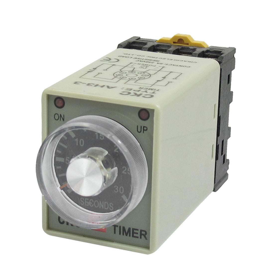 AC 220V Power On 0-30 Seconds Delay Timer Time Relay w Base Socket