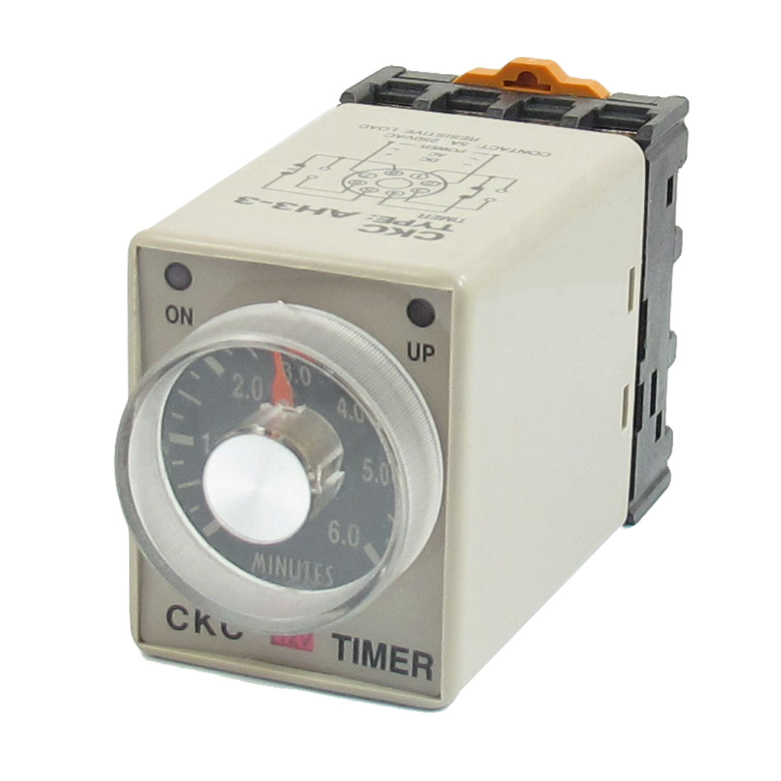 0-6 Minutes 8 Pin Plastic Housing Delay Timer Time Relay DC 12V AH3-3 w Base