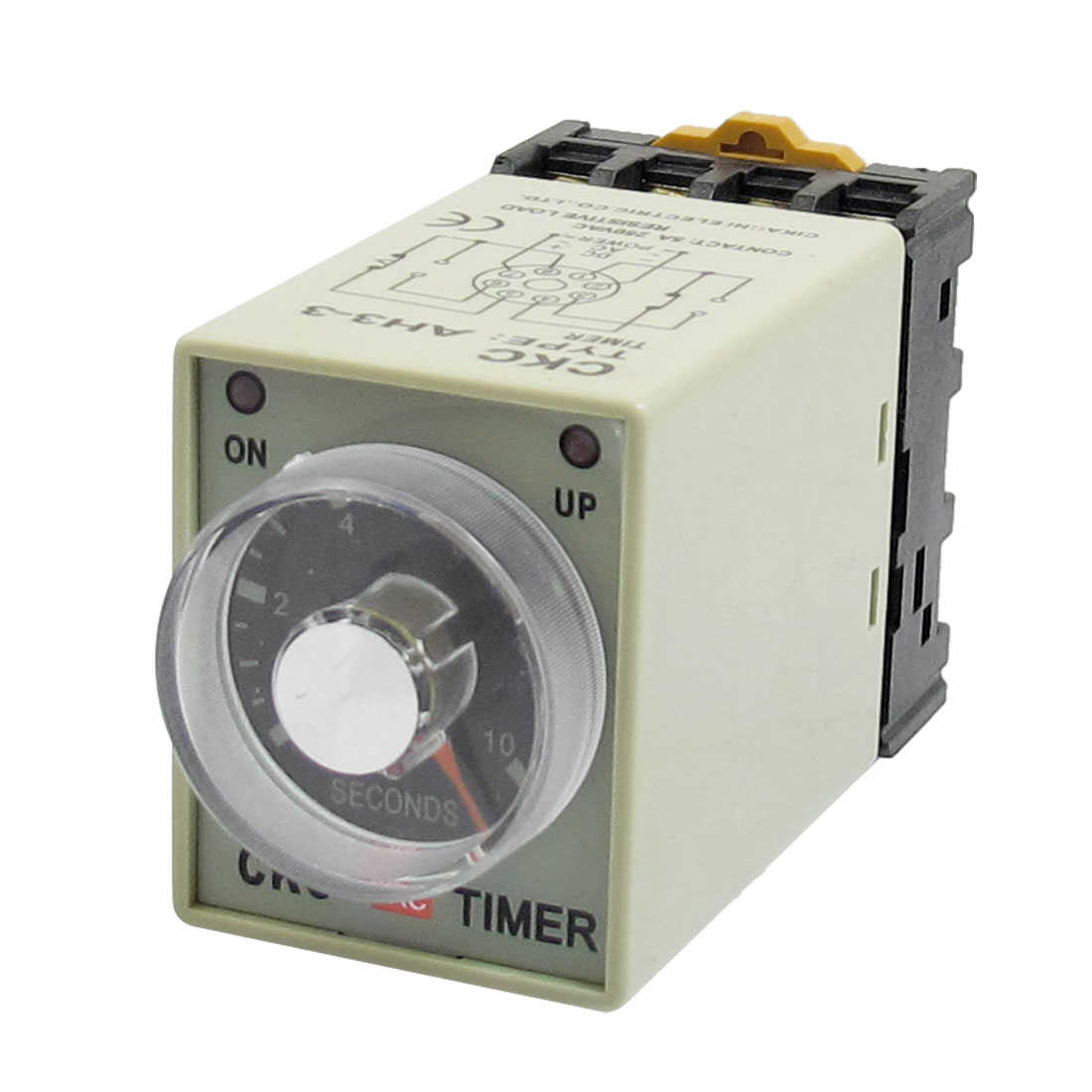 AH3-3 AC 380V 0-10s 10 Second 8P Terminals Delay Timer Time Relay w Base