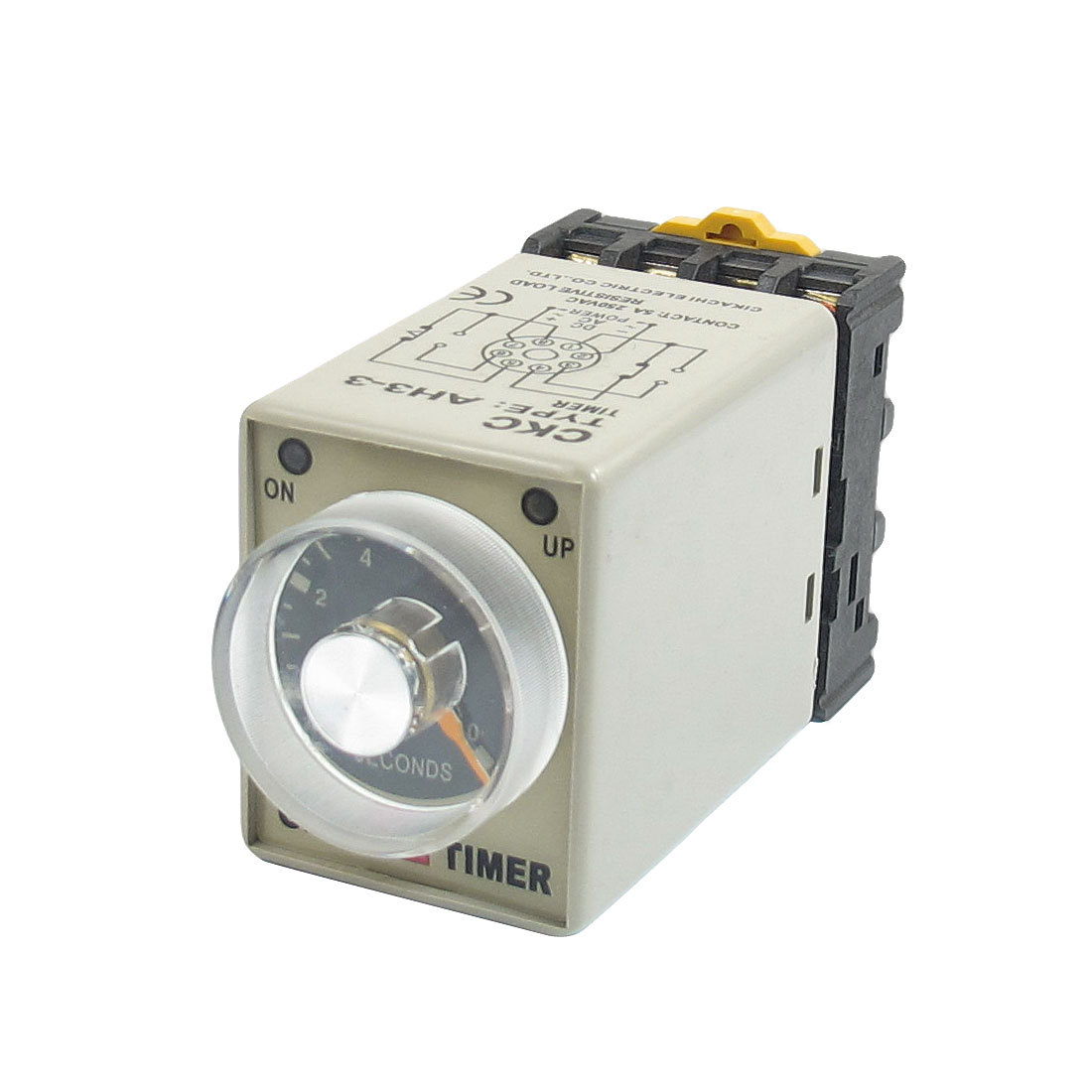 0-10s 10 Second 8P Terminals Electric Delay Timer Timing Relay 24VDC w Base