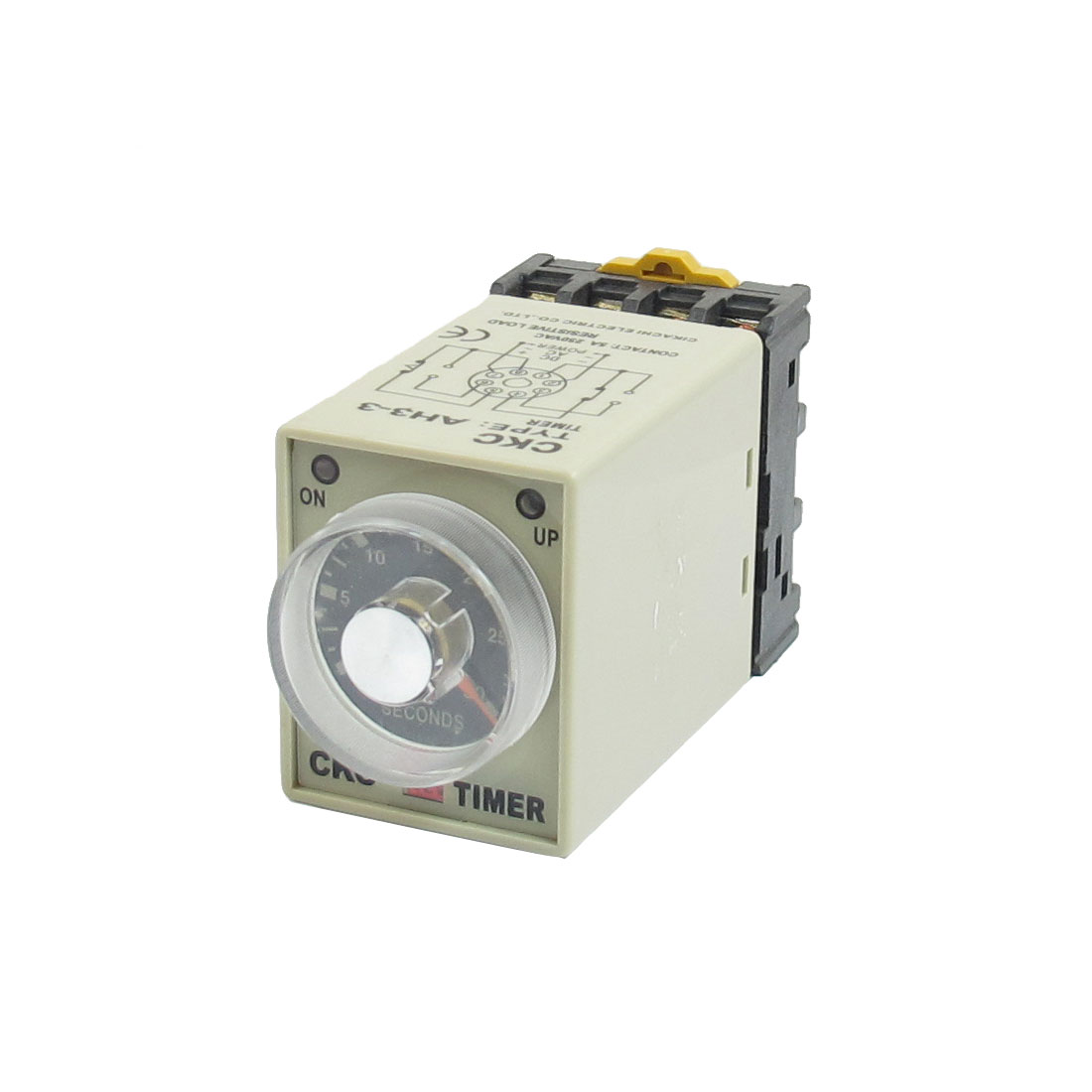 DC 12V 0-30 Seconds 30s Power On Delay Timer Timing Relay DPDT AH3-3 w Base Socket