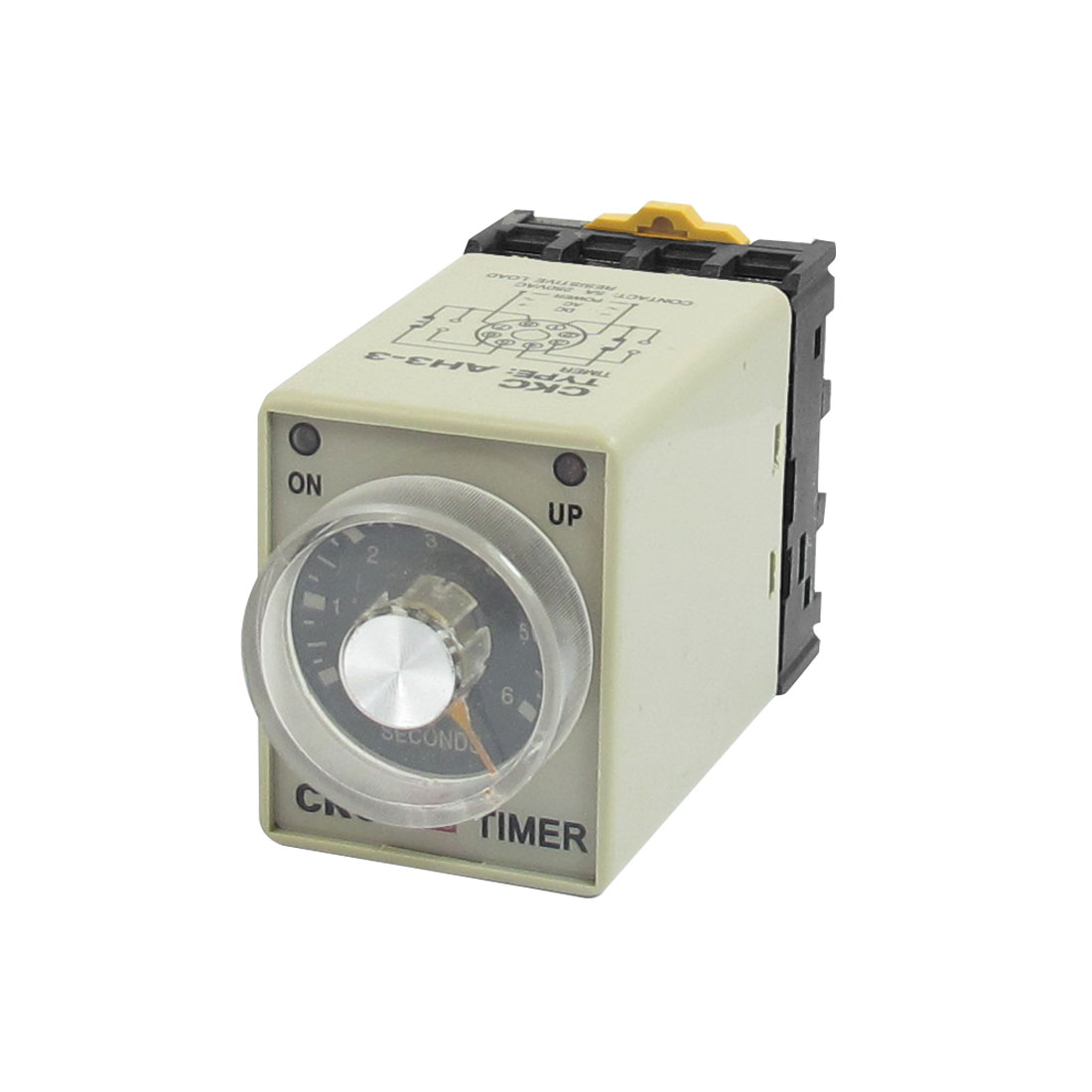 AC 110V 0-6 Second 8P Screw Resistive Load Delay Timer Time Relay w Base