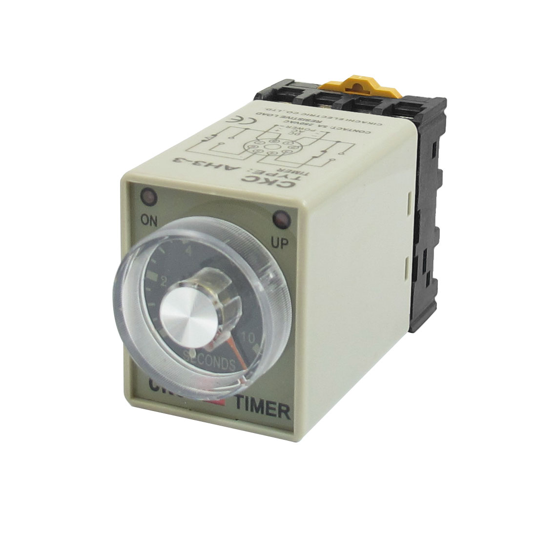 AH3-3 AC 110V 0 - 10 Seconds 8P Terminals Delay Timer Time Relay + Base